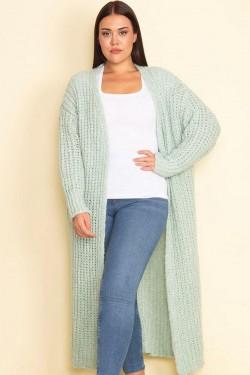 Ilgas megztinis kardiganas