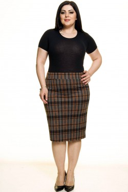 Languotas pieštuko formos sijonas