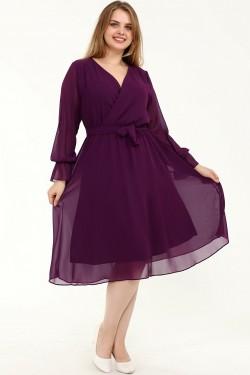 Elegantiška violetinė suknelė
