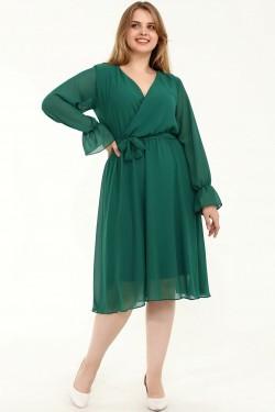 Elegantiška žalia suknelė