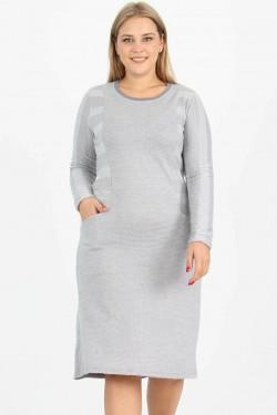 Pilka šilta suknelė