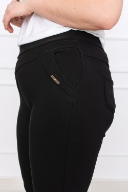 Juodos šiltos kelnės