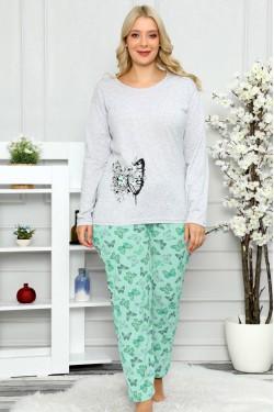 Medvilninė pižama su drugeliais